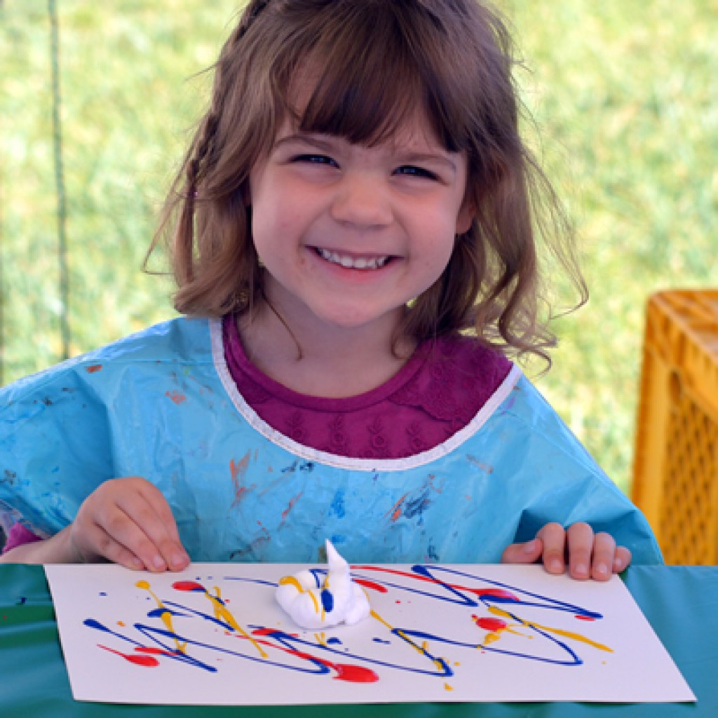painting at About Joyful Noises Christian Preschool in huntington beach